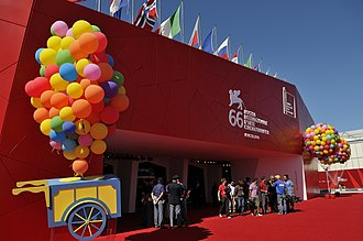 Venice Film Festival - Venice Cinema Palace, the main venue on the Lido island