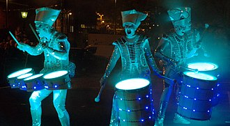 Light Night - Performers at the 2016 Leeds festival