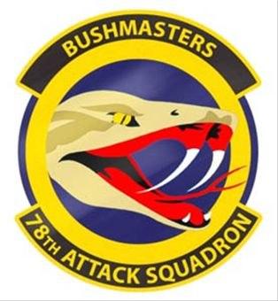 78th Attack Squadron patch
