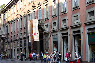 Via Manzoni street in Milan