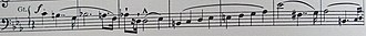 Sonata on the 94th Psalm - The subject of the final-movement fugue
