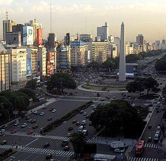 Obelisco de Buenos Aires - Obelisco de Buenos Aires and 9 de Julio Avenue