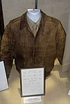A-2 leather flight jacket, Army Air Corps, World War II, owned by Lt. Col. W. C. Dale - Oregon Air and Space Museum - Eugene, Oregon - DSC09892.jpg