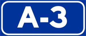 Autovía A-3 - Image: A 3Spain