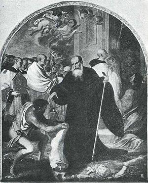 Agostino Scilla - San Benedetto da Norcia, painted by Scilla.