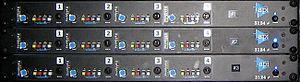 Automated Processes, Inc. - Image: API 3124+ (discrete 4ch Mic&Line Pre + DI)