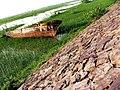 A Boat ancohred near River Chanab, Head marala,Sialkot, Pakistan.jpg