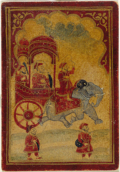 File:A King in an Elephant-drawn Carriage.jpg