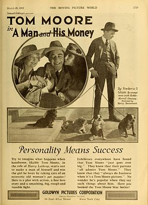 Tom Moore (actor) - A Man and His Money (1919)