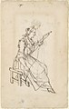 A Woman Spinning (recto); A Woman Holding a Bundle (verso) MET DP103058.jpg