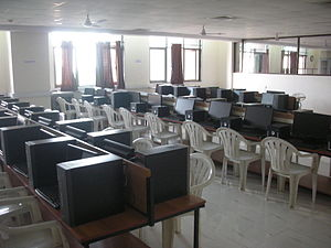 A. P. Shah Institute of Technology - A computer lab.