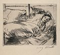 A female patient in a hospital bed. Drypoint by L. Corinth, Wellcome V0010549.jpg