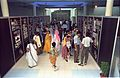 A to Z of Dinos Panels with Visitors - Dinosaurs Alive Exhibition - Science City - Calcutta 1995-June-July 484.JPG