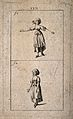 A woman showing two examples of sign language. Etching by J. Wellcome V0016561.jpg