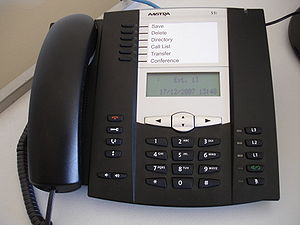Aastra Technologies - A VoIP handset manufactured by Aastra