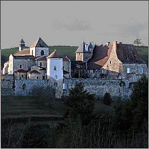 Chantelle, Allier - The abbey in Chantelle