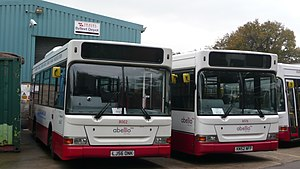 Abellio (transport company) - A pair of Abellio Surrey Dennis Darts in November 2009