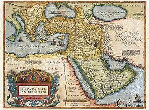 Ottoman–Mamluk War (1516–17) - Image: Abraham Ortelius Tvrcici imperii descriptio