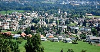 Gaiserwald - Image: Abtwil from Sonnenberg