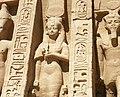 Abu Simbel temple queen pavilion statues.jpg