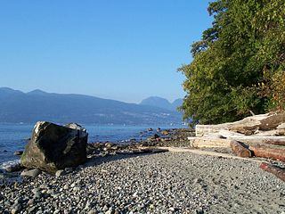 Wreck Beach beach in British Columbia, Canada