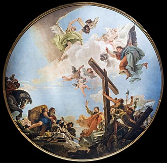 Relics associated with Jesus - Discovery of the True Cross, by Tiepolo, 1745