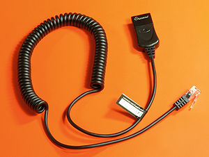 Headset (audio) - A typical Quick Disconnect bottom cable