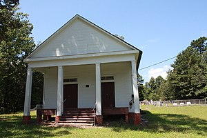 National Register of Historic Places listings in Wilcox County, Alabama - Image: Ackerville Baptist Church of Christ 02