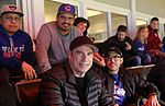 Actors Michael Pena and John Travolta enjoys Game 5 of the 2016 World Series. (30565637262).jpg