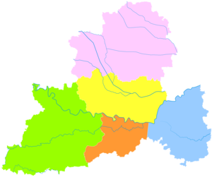 Luohe - Image: Administrative Division Luohe