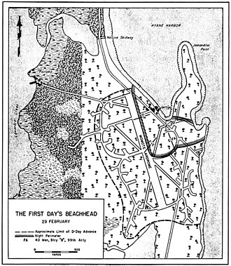 Admiralty Islands campaign - Situation on Los Negros on the night of 29 February 1944