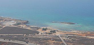 Sotira, Famagusta - Image: Aerial view of Ayia Thekla beach