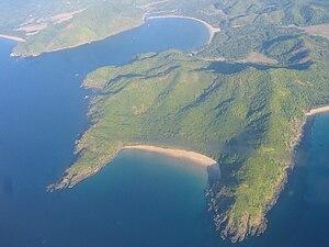 El Nido, Palawan - Aerial view of Bucana, in the northern partof El Nido.