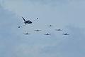 Aero Vodochody L-39C Albatros N150XX Roman86 BSY passing Texan Formation SNF 04April2014 (14606428393).jpg