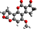 Aflatoxin b1 3d structure.png