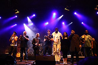 Witness (Show of Hands album) - The album was produced by Simon Emmerson and Simon Massey of Afro Celt Sound System (pictured).