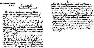Ahad Ha'am - Ahad Ha'am's proposal to the Paris Peace Conference, 1919