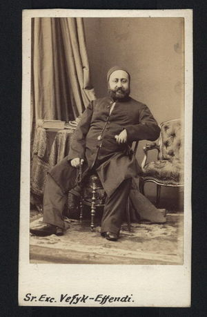 Greek Muslims - Ahmed Vefik Pasha (1823-1891) Ottoman statesman, diplomat and playwright of Greek ancestry who presided over the first Turkish parliament