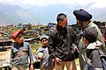 Air Vice Marshal (AVM) Ukarjit Singh, Task Force Commander of Indian Air Force (IAF) talking to villagers, at Barpak following a recent massive earthquake in Nepal.jpg