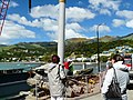 Akaroa Pier 2008. Replacing old timber piles with something more substantial. - panoramio.jpg