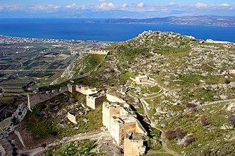 Acrocorinth - Acrocorinth, looking north towards the Gulf of Corinth.
