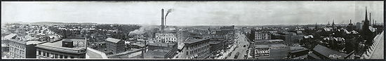 Panorama of Akron, Ohio in 1911