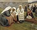 Albert Edelfelt - Women Outside the Church at Ruokolahti.jpg
