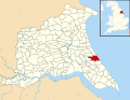Aldbrough, East Riding of Yorkshire UK parish locator map.svg