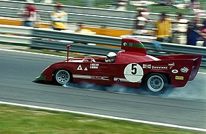 Brian Redman - Redman driving an Alfa Romeo Tipo 33 TT 12 at the Nürburgring in 1974