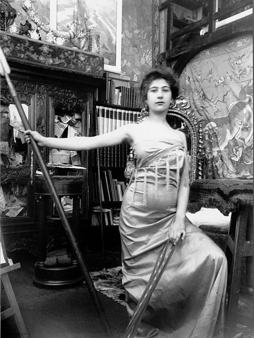 Alfons Mucha model model posing in muchas studio Paris.jpg