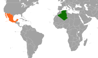 Algeria–Mexico relations Diplomatic relations between the Peoples Democratic Republic of Algeria and the United Mexican States