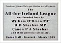 All-for-Ireland League 1909 plaque, Kanturk, Co Cork.JPG