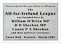 All-for-Ireland League 1909 plaque, Kanturk, Co Cork.JPG