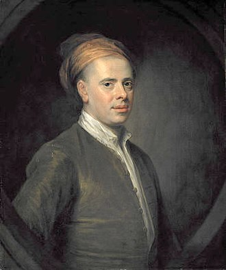 Allan Ramsay (poet) - Portrait painted in 1722 by William Aikman (1682–1731)